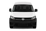 Car photography straight front view of a 2019 Volkswagen Caddy Van Base 4 Door Car van