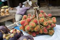 Afrique/Afrique de l'Est/Tanzanie/Zanzibar/Ile Unguja/Stone Town: au Marché Daradjani letchi