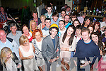 KEY BIRTHDAY: Graham Flynn, Tonevane, Blennerville (front centre), son of Pierce and Geraldine, who celebrated his 21st birthday in Kirby's Brogue Inn, Tralee, last Saturday night.