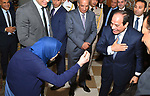 Egyptian President Abdel Fattah al-Sisi attends the breakfast meal for Egyptian Family during the holy month of Ramadan, in Cairo, Egypt, on June 5, 2018. Photo by Egyptian President Office