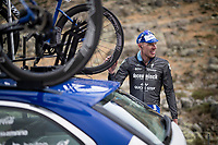 Tim Declercq (BEL/Deceuninck - Quick Step) ready to go down by teamcar at the finish<br /> <br /> Stage 20: Arenas de San Pedro to Plataforma de Gredos (190km)<br /> La Vuelta 2019<br /> <br /> ©kramon