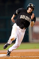Vanderbilt shortstop Ryan Flaherty (22) rounds third base versus Baylor at the 2007 Houston College Classic at Minute Maid Park in Houston, TX, Sunday, February 11, 2007.  The Commodores defeated the Bears by the score of 7-4.
