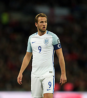 Harry Kane of England<br /> <br /> Photographer Rob Newell/CameraSport<br /> <br /> FIFA World Cup Qualifying - European Region - Group F - England v Slovenia - Thursday 5th October 2017 - Wembley Stadium - London<br /> <br /> World Copyright &copy; 2017 CameraSport. All rights reserved. 43 Linden Ave. Countesthorpe. Leicester. England. LE8 5PG - Tel: +44 (0) 116 277 4147 - admin@camerasport.com - www.camerasport.com