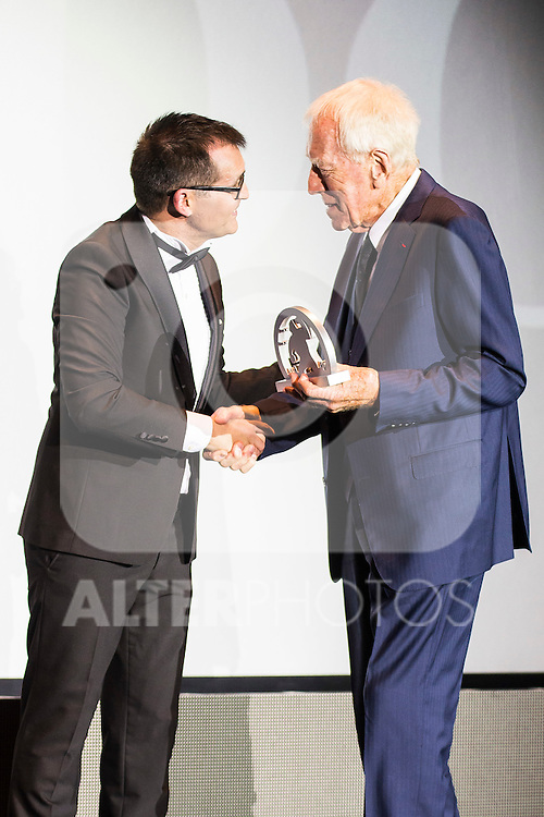 Angel Sala and Max Von Sydow receive the honorific award during the opening ceremony of the Festival de Cine Fantastico de Sitges in Barcelona. October 07, Spain. 2016. (ALTERPHOTOS/BorjaB.Hojas)