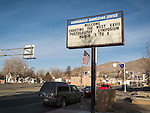 Marquee sign for STW at the Winnemucca Convention Center, Saturday at Shooting the West XXVII, Winnemucca, Nev.