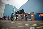 Supporters making their way to the Kop stand before Sheffield Wednesday take on Peterborough United in a Coca-Cola Championship match at Hillsborough Stadium, Sheffield. The home side won by 2 goals to 1 giving Alan Irvine his third straight win since taking over as Wednesday's manager.