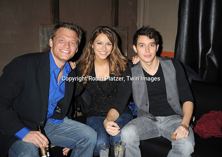 Karl Girolamo, Chrishell Stause and Daniel Kennedy..at The Stockings With Care Benefit at Bar 13 on  December 4, 2008 in New York City. ......Robin Platzer, Twin Images