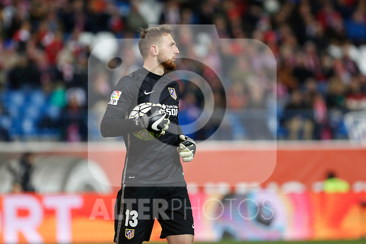 Atletico de Madrid´s Oblak during 2015-16 La Liga match between Atletico de Madrid and Deportivo de la Coruna at Vicente Calderon stadium in Madrid, Spain. March 12, 2016. (ALTERPHOTOS/Victor Blanco)