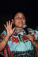 "Rigobeta Menchu Guatemalan Mayan Activist and Indigenous Leader, Nobel Peace Prize winner in 1992 and author of ""I, Rigoberta Menchu"""