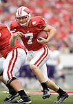 MADISON, WI - SEPTEMBER 9: Quarterback John Stocco #7 of the Wisconsin Badgers carries the ball against the Western Illinois Leathernecks at Camp Randall Stadium on September 9, 2006 in Madison, Wisconsin. The Badgers beat the Leathernecks 34-10. (Photo by David Stluka)