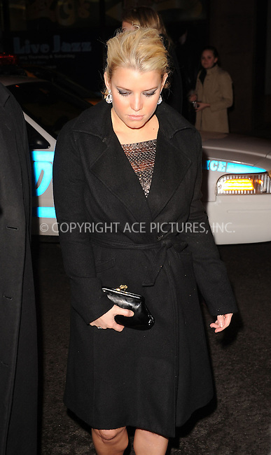 WWW.ACEPIXS.COM . . . . . ....November 30 2009, New York City....Singer and actress Jessica Simpson arriving at her sister Ashlee Simpson-Wentz's Broadway debut in 'Chicago' at the Ambassador Theatre on November 30, 2009 in New York City. ....Please byline: KRISTIN CALLAHAN - ACEPIXS.COM.. . . . . . ..Ace Pictures, Inc:  ..(212) 243-8787 or (646) 679 0430..e-mail: picturedesk@acepixs.com..web: http://www.acepixs.com