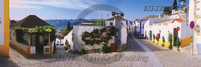 Dr. Xiong, LANDSCAPES, panoramic, photos, Cobbled Streets, Obidos, Portugal(AUJXP248,#L#)