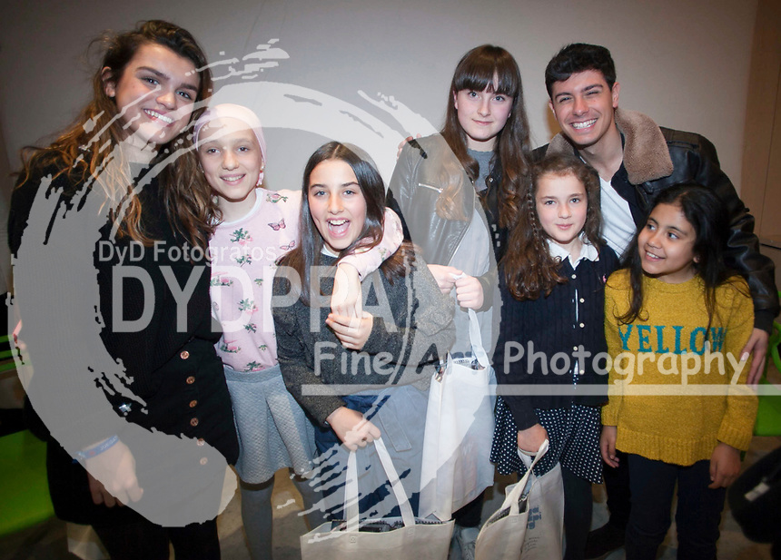 The duo of singers that represented Spain in the Eurovision Festival, Alfred and Amaia. They have inaugurated the new oncology unit for adolescents at the Hospital del Nino Jesus in Madrid on March 23, 2018.