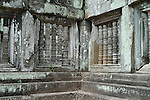 Angkorian temple Prasat Thom at Koh Ker (early 10th century).<br /> The Prang or temple tower is the highest ever constructed by the Khmer, rising 36 meters above the forest floor, when consecrated in 921 a 4 metre tall linga was enshrined at its summit. <br /> Koh Ker temple complex is a remote archaeological site in the jungle of Preah Vihear province in northern Cambodia. Inscriptions found at the site say the name of the ancient town was Chok Gargyar. Briefly in the reign of Jayavarman IV and Harshavarman II (928–944 AD) it was the capital of the Khmer Empire.Koh Ker was also known as Lingapura (City of Lingams), all of the monuments here are dedicated to Hindu deities, mainly Shiva.