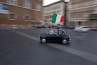 Roma, Luglio, 2006. Festeggiamenti per la vittoria dell'Italia ai campionati del mondo di calcio.Photo Antonello Nusca/Buenavista photo