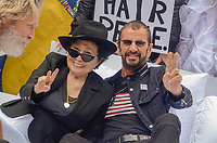 NEW YORK, NY - SEPTEMBER 13: Yoko Ono and Ringo Starr attend the Fifth Annual Come Together: NYC Bed-In Celebration at City Hall on September 13, 2018 in New York City. <br /> CAP/MPI/RH<br /> &copy;RH/MPI/Capital Pictures