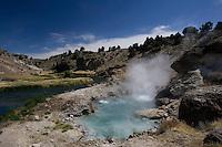 Mammoth Hot Springs, Eastern Sierra, California.