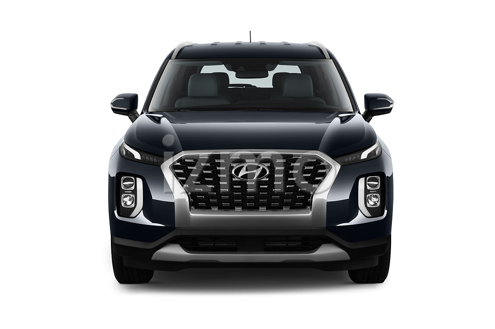 Car photography straight front view of a 2020 Hyundai Palisade SEL 5 Door SUV