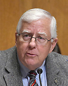 "United States Senator Mike Enzi (Republican of Wyoming) acts as temporary chairman of the US Senate Committee on Finance during its ""Hearing to Consider the Graham-Cassidy-Heller-Johnson Proposal"" on the repeal and replace of the Affordable Care Act (ACA) also known as ""ObamaCare"" in Washington, DC on Monday, September 25, 2017.<br /> Credit: Ron Sachs / CNP"