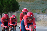 Cogeas-Mettler Pro Cycling Team in action during Stage 1 of the Madrid Challenge by La Vuelta, a team time trial running 12.6km from Boadilla del Monte to Boadilla del Monte, Spain. 15th September 2018.                   <br /> Picture: Unipublic/Vicent Bosch | Cyclefile<br /> <br /> <br /> All photos usage must carry mandatory copyright credit (&copy; Cyclefile | Unipublic/Vicent Bosch)