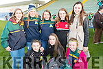 Cheering on Kilmoyley at the Hurling replay final on Saturday evening last in Austin Stack Park, Tralee, were front l-r: Maeve and Aoife Godley with Sarah McCarthy. Back l-r: Mairead Fitzgerald, Laura Collins, Brid Horan, Amy O'Sullivan and Niamh Leen.