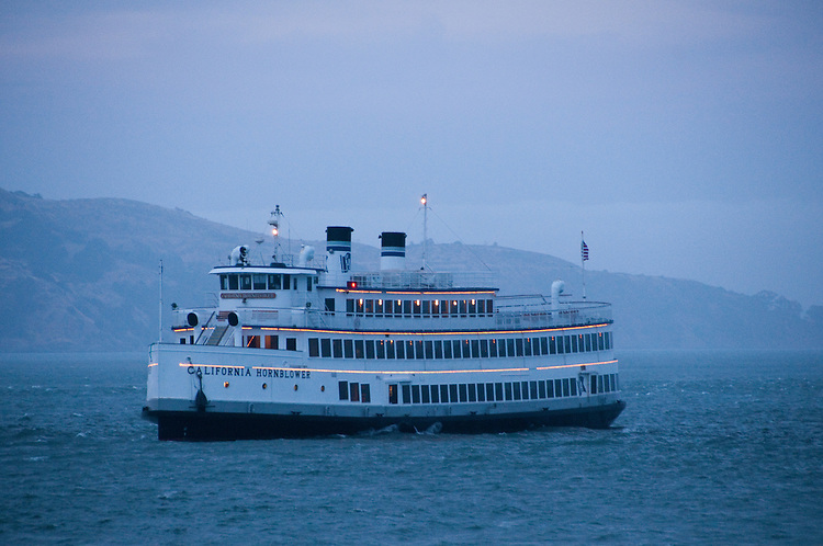 San Francisco, California: Hornblower Yacht sails in  Fog on San Francisco Bay. Photo copyright Lee Foster. Photo # casanf104029