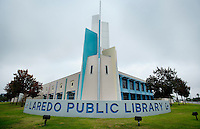 The Laredo Public Library in Laredo, Texas, Friday, Dec. 11, 2009. The community has voiced its opposition to the closing of the B. Dalton book store, the only book store in Laredo. With over 95 percent of the population as Hispanic Spanish speakers, Laredo ranked the lowest in literacy rates in the 2000 US census. Today there are a number of bi-lingual and dual langauge classes set up to help students and adults learn english...PHOTOS/ MATT NAGER