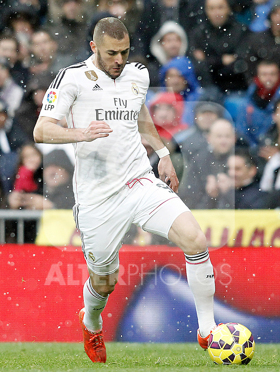 Real Madrid's Karim Benzema during La Liga match.January 31,2015. (ALTERPHOTOS/Acero)