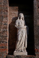 AGRIPPINA, c.15-59AD, wife of Emperor Claudius, statue, in the Sacellum, or Imperial shrine, in the Macellum, 2nd century BC, Pompeii