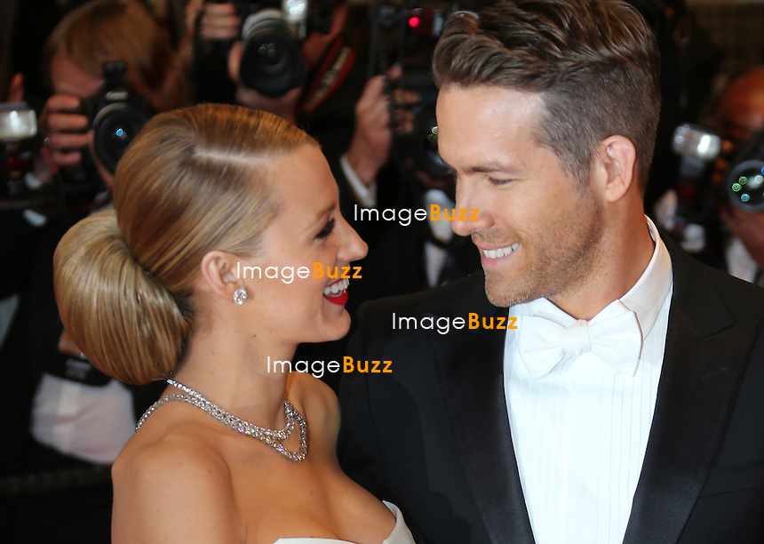 Blake Lively and Ryan Reynolds attend the 'Captives' premiere during the 67th Annual Cannes Film Festival.<br /> France, Cannes, May 16, 2014.