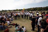 SÃO PAULO, SP 27.07.2019: FESTIVAL BLUES-SP - A banda BB Jazz Brass Band se apresentou no intervalo. Acontece em São Paulo a quinta edição do Festival BB Seguros de Blues e Jazz, na tarde deste sábado, 27, na Ilha Musical do Parque Villa-Lobos, na zona oeste da capital paulista. (Foto: Ale Frata/Código19)