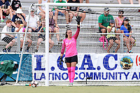 Cary, North Carolina  - Saturday July 01, 2017: Kailen Sheridan during a regular season National Women's Soccer League (NWSL) match between the North Carolina Courage and the Sky Blue FC at Sahlen's Stadium at WakeMed Soccer Park. Sky Blue FC won the game 1-0.