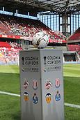 01.08.2015. Cologne, Germany. Pre Season Tournament. Colonia Cup. FC Cologne versus Stoke City.  Colonia Cup Ball Podium.