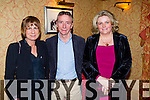 Pictured at Na Gaeil Social in Meadowlands Hotel, Tralee on Saturday night were Cathy Carey, Paul Carey and Theresa Kelliher.