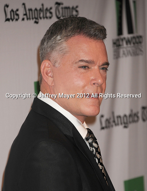 BEVERLY HILLS, CA - OCTOBER 22: Ray Liotta arrives at the 16th Annual Hollywood Film Awards Gala presented by The Los Angeles Times held at The Beverly Hilton Hotel on October 22, 2012 in Beverly Hills, California.