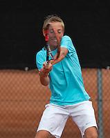 August 8, 2014, Netherlands, Rotterdam, TV Victoria, Tennis, National Junior Championships, NJK,  Sander Jong (NED)<br /> Photo: Tennisimages/Henk Koster