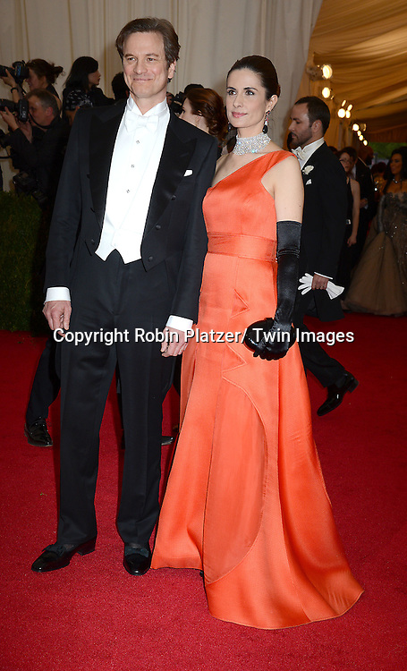 Colin Firth and wife attends the Costume Institute Benefit on May 5, 2014 at the Metropolitan Museum of Art in New York City, NY, USA. The gala celebrated the opening of Charles James: Beyond Fashion and the new Anna Wintour Costume Center.