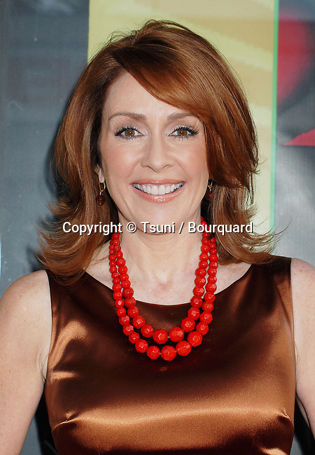 Patricia Heaton arriving at  6th Annual Comedy For a Cure at the Music Box Theatre In Los Angeles.<br /> <br /> headshot<br /> eye contact<br /> smile