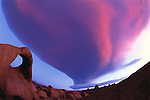 Lenticular cloud, Alabama Hills, California