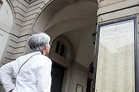 L'entrata del Teatro alla Scala in Milan.<br /> The entrance of La Scala opera house in Milan.<br /> UPDATE IMAGES PRESS/Riccardo De Luca