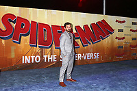 "LOS ANGELES - DEC 1:  Jake Johnson at the ""Spider-Man:  Into the Spider-Verse"" Premiere at the Village Theater on December 1, 2018 in Westwood, CA"