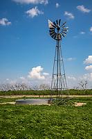 A windmill on the Cimarron National Grassland in Western Kansas.