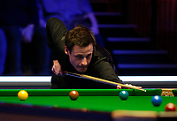 26th February 2020; Waterfront, Southport, Merseyside, England; World Snooker Championship, Coral Players Championship; David Gilbert (ENG) at the table during his first round match against Shaun Murphy (ENG)