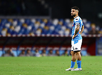 1st December 2019; Stadio San Paolo, Naples, Campania, Italy; Serie A Football, Napoli versus Bologna; Lorenzo Insigne of Napoli waits for play to restart - Editorial Use