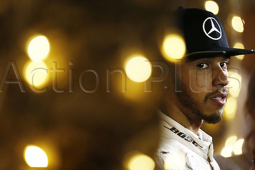 02.04.2016. Sakhir, Bahrain. F1 Grand Prix of Bahrain, qualification Saturday.   44 Lewis Hamilton (GBR, Mercedes AMG Petronas Formula One Team) press conference