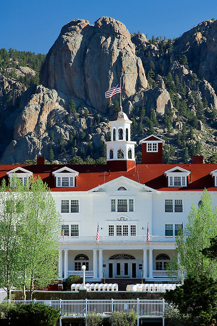 The Historic Stanley Hotel, Estes Park, Colorado, Rocky Mountains, Twin Owls