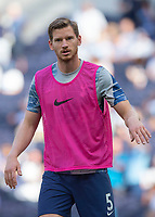 Jan Vertonghen of Tottenham Hotspur warms up before during the Premier League match between Tottenham Hotspur and Crystal Palace at Wembley Stadium, London, England on 14 September 2019. Photo by Vince  Mignott / PRiME Media Images.