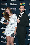 Elena Ballesteros and Dani Mateo attend the 40 Principales Awards at Barclaycard Center in Madrid, Spain. December 12, 2014. (ALTERPHOTOS/Carlos Dafonte)