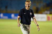 USA coach Juergen Klinsmann before the United States played Guatemala at Estadio Mateo Flores in Guatemala City, Guatemala in a World Cup Qualifier on Tue. June 12, 2012.