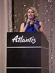Tierra Bonaldi, Nevada Humane Society Board President, speaks during the Nevada Humane Society's 3rd  annual Heels & Hounds event at the Atlantis Resort and Spa in Reno on April 9, 2017.